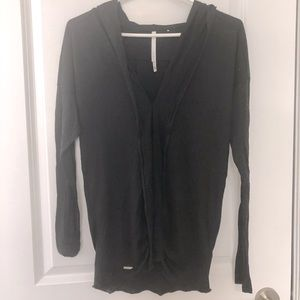 Silk & Cashmere tunic with hood